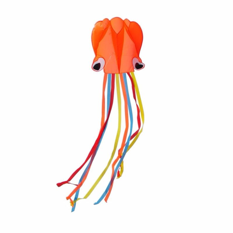 воздушный змей «осьминог» оранжевый bradex.