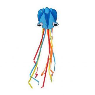воздушный змей «осьминог» голубой bradex de 0437