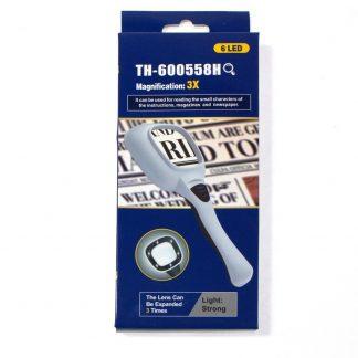 купить лупа с led подсветкой 4х/60мм th-600558