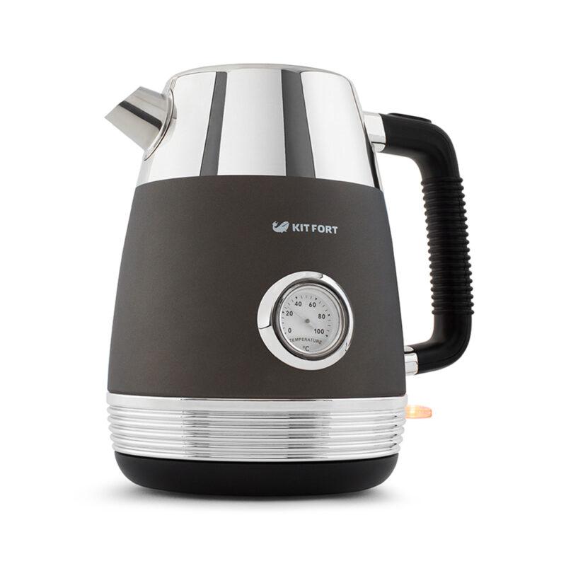 чайник kitfort кт-633-1, графит, цена 2 590 руб., купить.