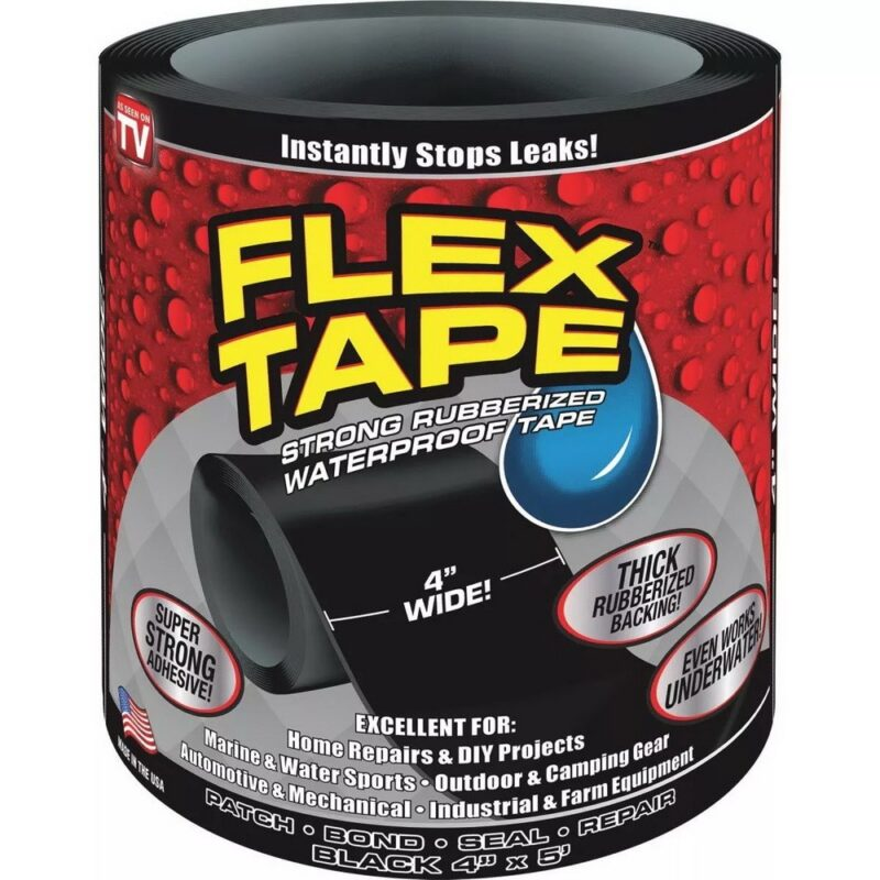 сверхсильная клейкая лента flex tape (10*152 см).