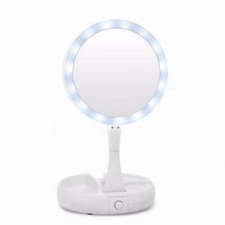зеркало с подсветкой my foldaway mirror купить   акитоза