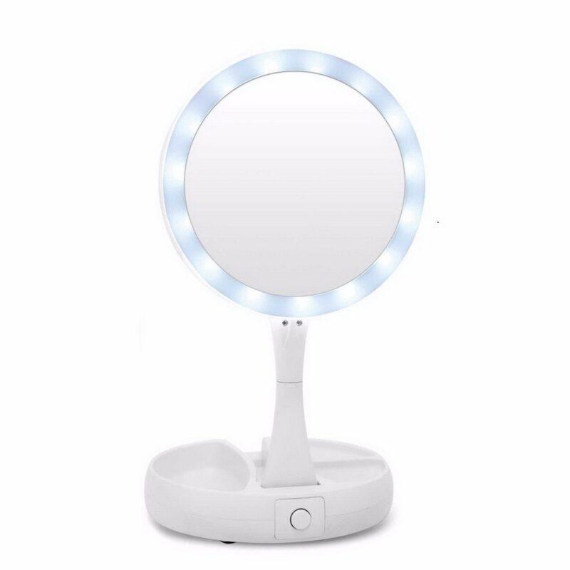 зеркало с подсветкой my foldaway mirror купить | акитоза