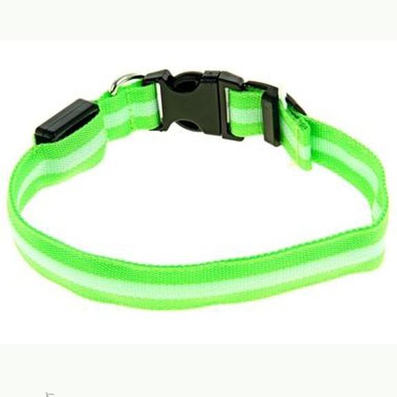 ошейник светящийся richi, 50 см, зеленый, 3 режима.