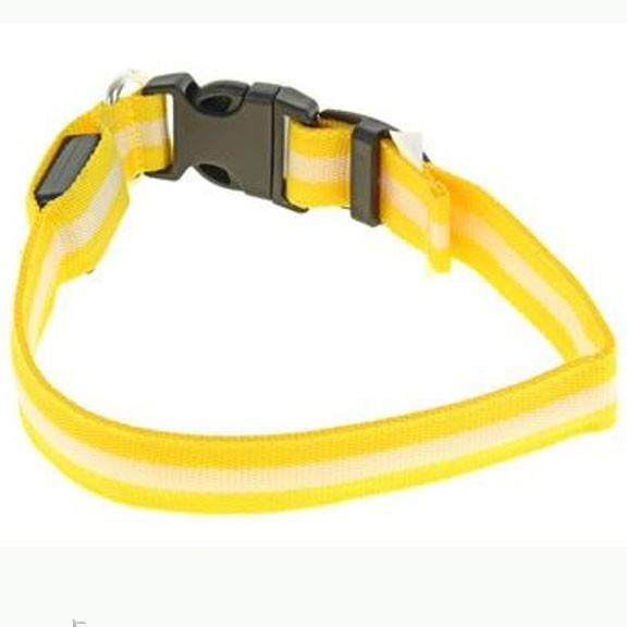 светящийся ошейник 40 45 см желтый купить по низкой.