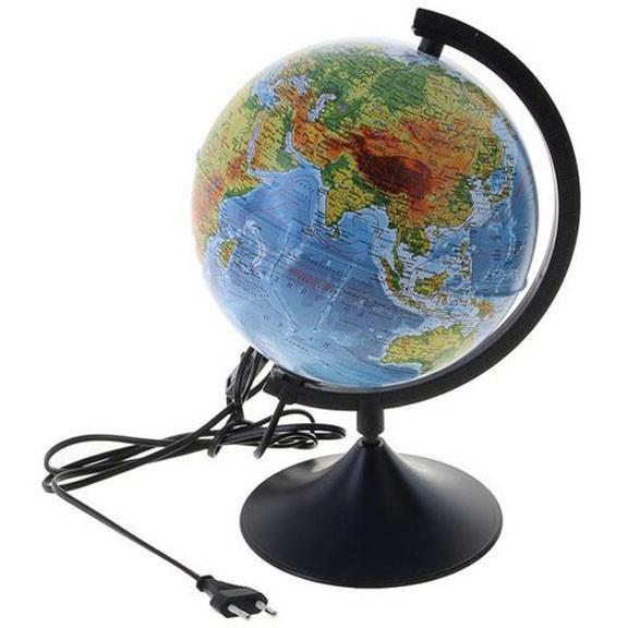 глобус земли политический с подсветкой d=21 см