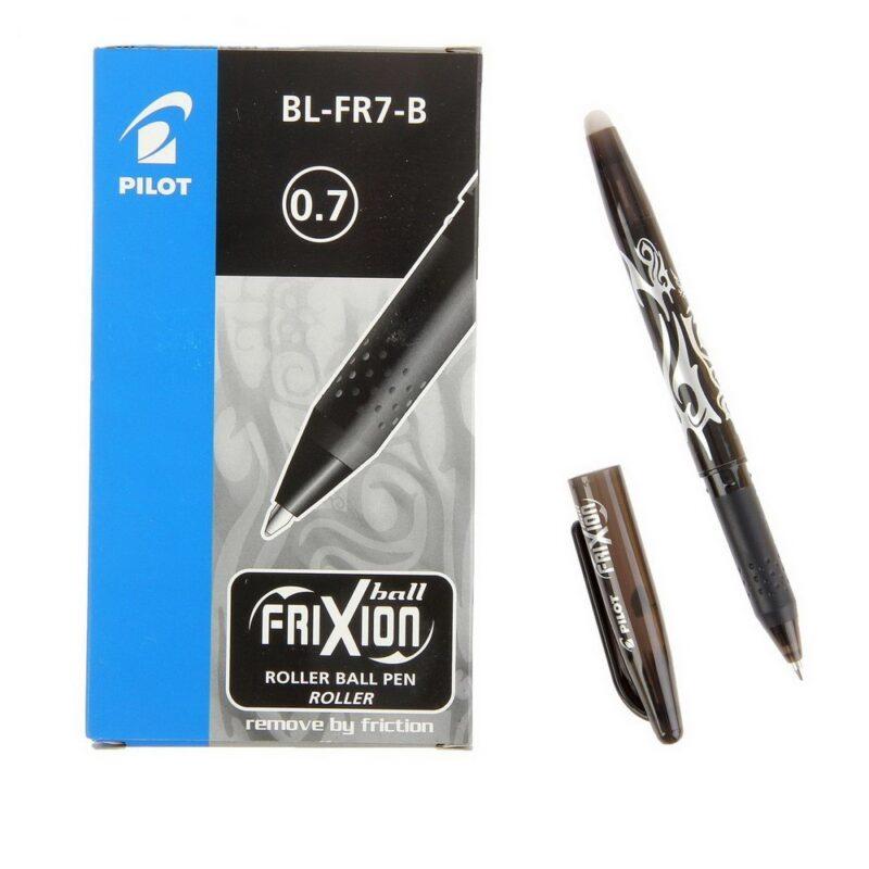 """ручка гелевая стираемая pilot """"frixion"""" черная, 0,7мм"""