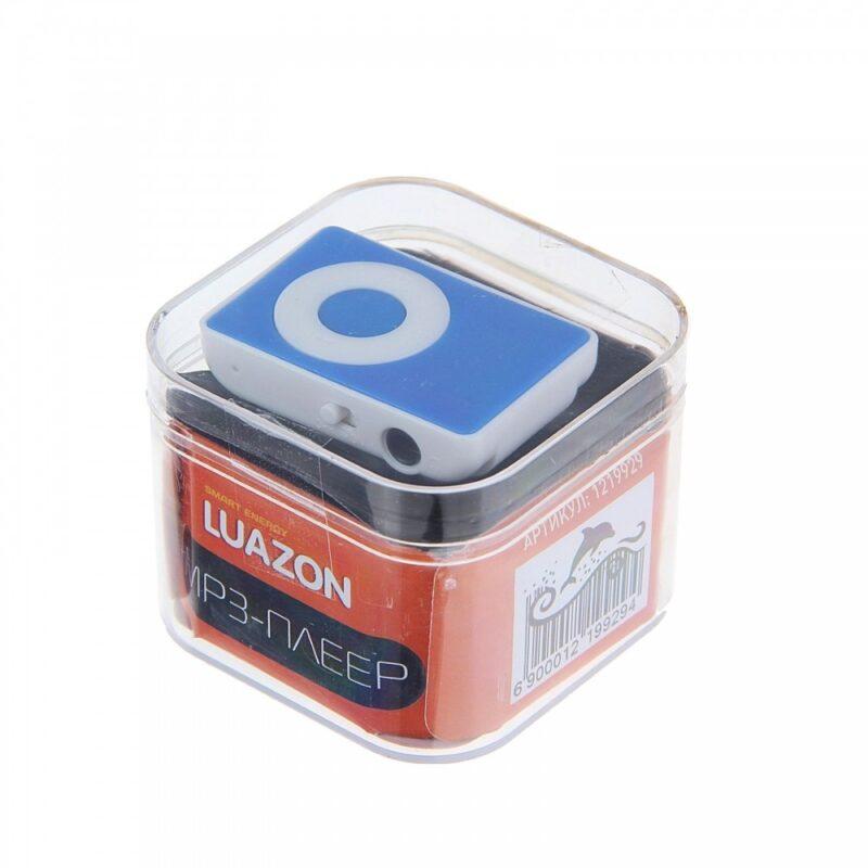 mp3-плеер luazon lmp-01, акб, microsd, miniusb 5pin.