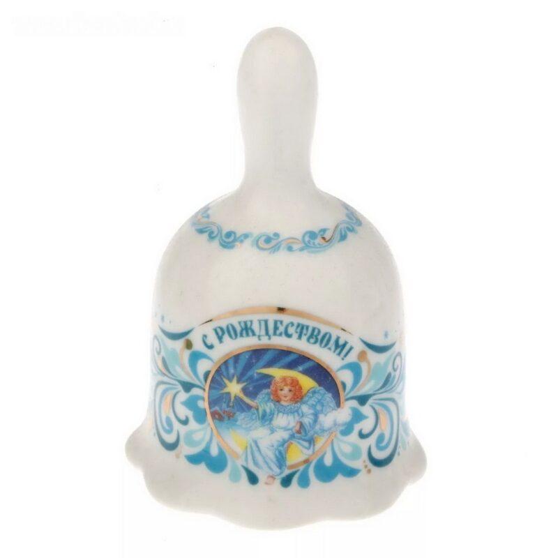 колокольчик - милые ангелочки, 5,5 х 9,5 см, керамика.