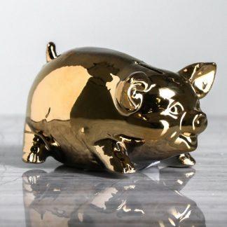свинка-копилка золотая осень