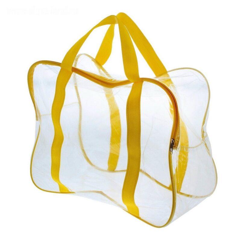 прозрачные сумки в роддом: пустые и с набором
