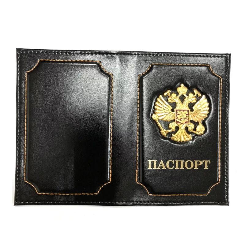 обложка для паспорта officespace кожа тип 1.2, черный.
