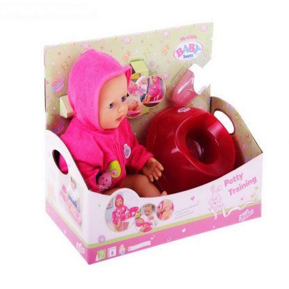 кукла быстросохнущая baby born, с горшком.