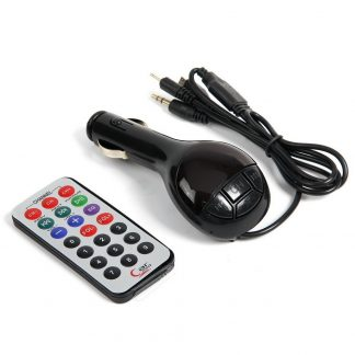 fm - трансмиттер, 12 в, usb/mp3/wma/microsd, черный