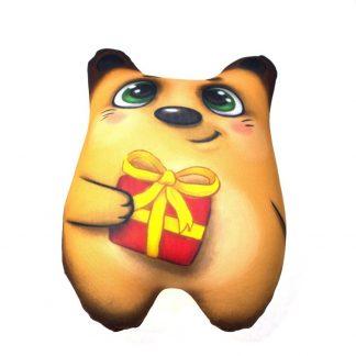 мягкая игрушка-антистресс - мишка с сердечком.