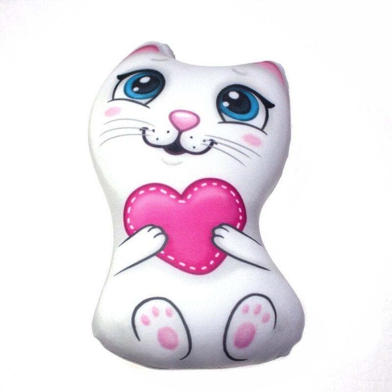 "игрушка антистресс ""котик с сердечком"" (2867783)."