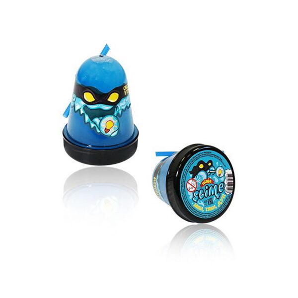 лизун slime ninja, светится в темноте, синий, 130.