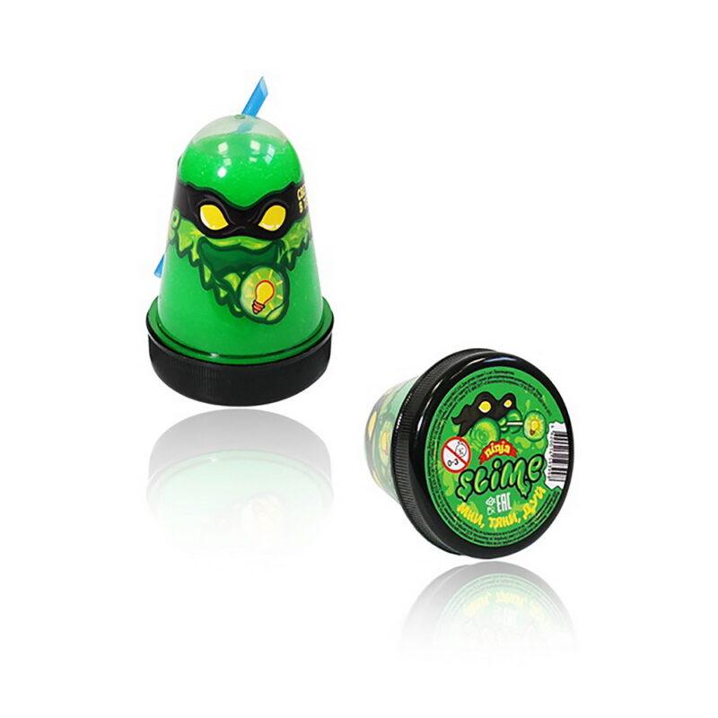 """лизун """"slime """"ninja"""" светится в темноте, зеленый, 130 г."""