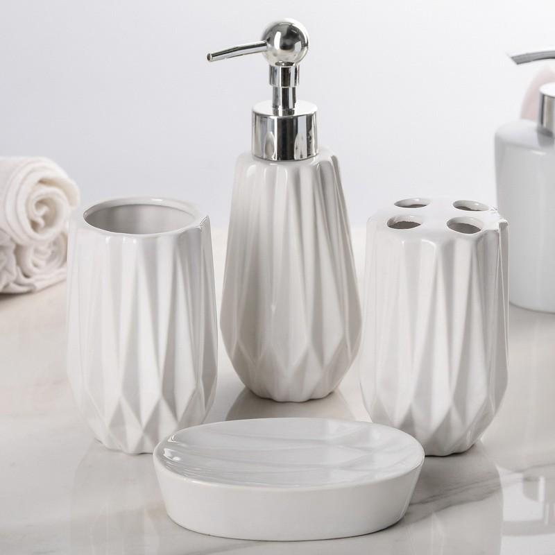 набор аксессуаров для ванной комнаты, 4 предмета.