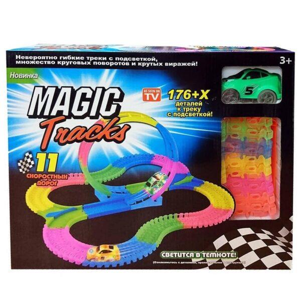 светящаяся гоночная трасса magic tracks широкая, 176.