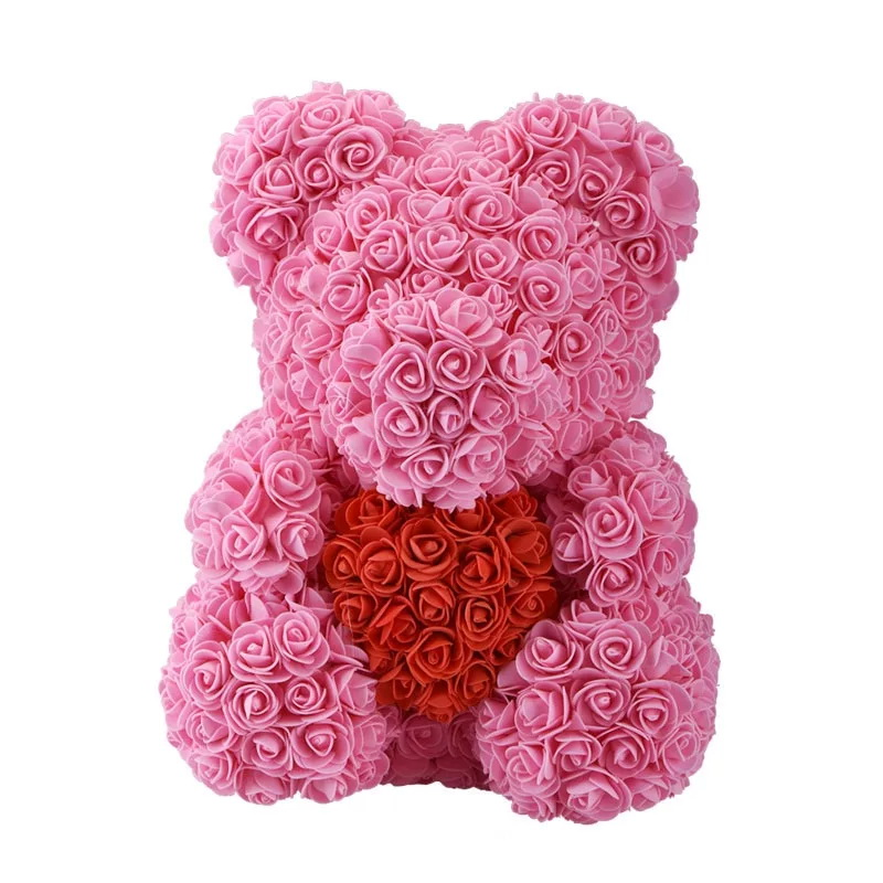 сердце из белых и розовых роз в подарочной коробке