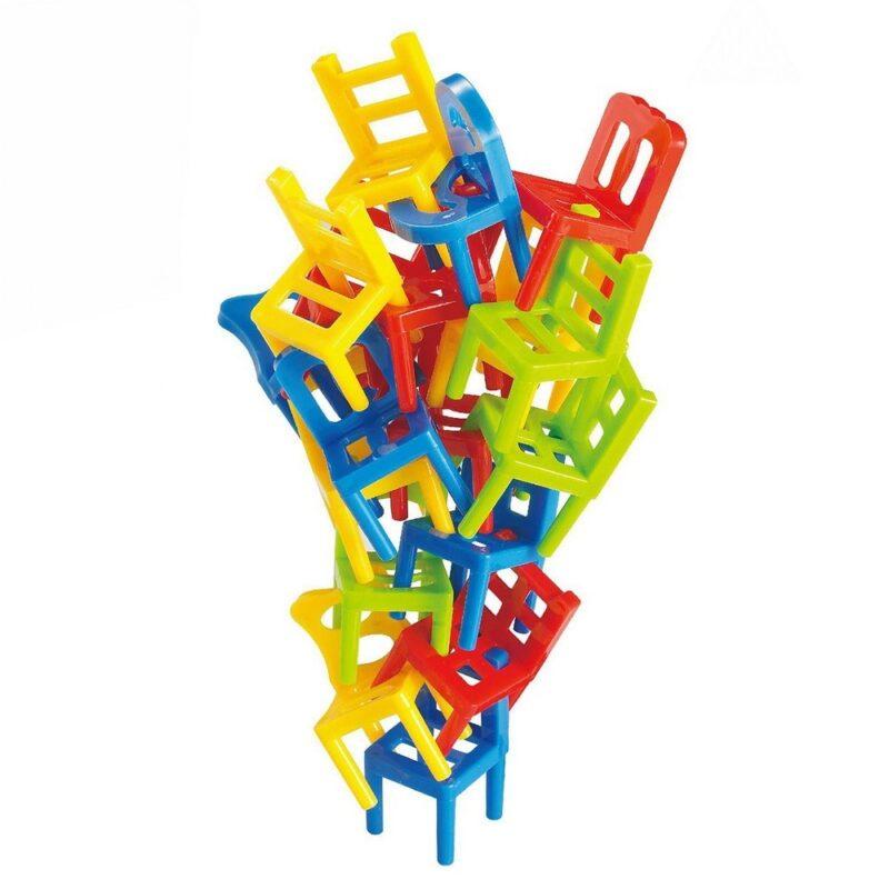 игра настольная на ловкость балансирующие стулья.