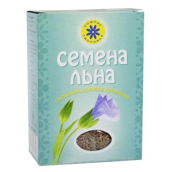 льна семена с селеном, хромом, кремнием 200 г