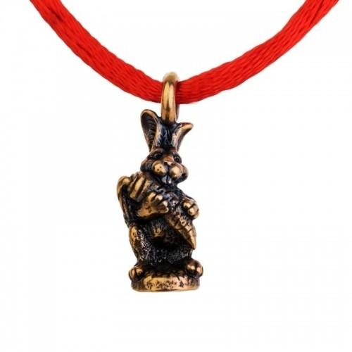 браслет красная нить - кролик / браслеты