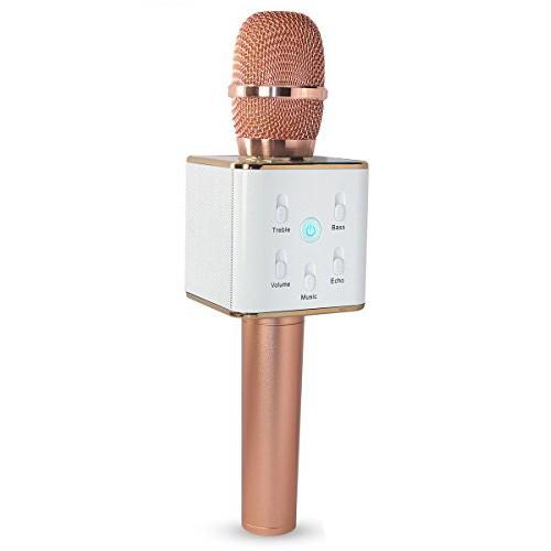 беспроводной караоке микрофон со встроенным.