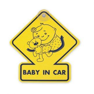 "табличка на присоске в а/м ""ребенок в машине"", ромб+."