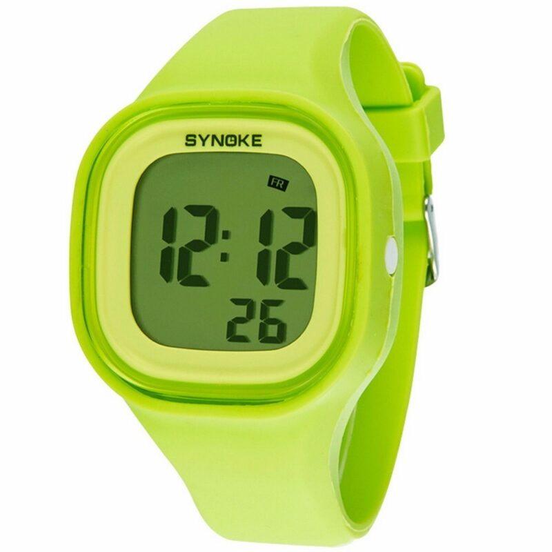 силиконовые led часы shors sh-689 беж. - онлайн