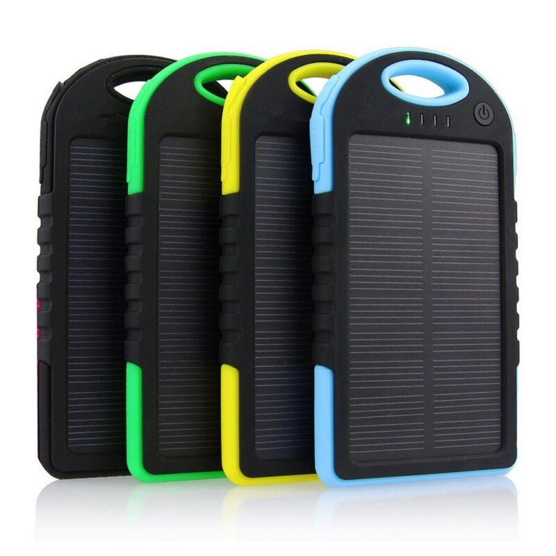 solar power bank 5000 mah аккумулятор на солнечной.