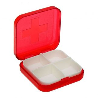 таблетница, 4 секции, цвет микс (261934) - купить по.
