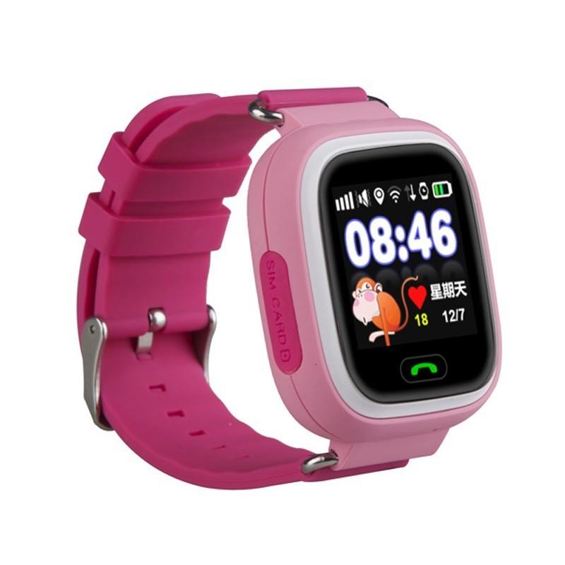 детские часы q80 smart baby watch (pink)