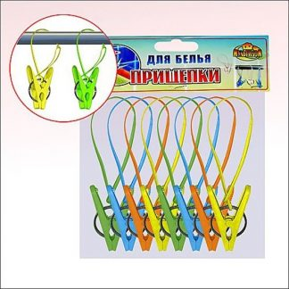 набор прищепок с петлей 8 шт 4 цв - купить веревки.