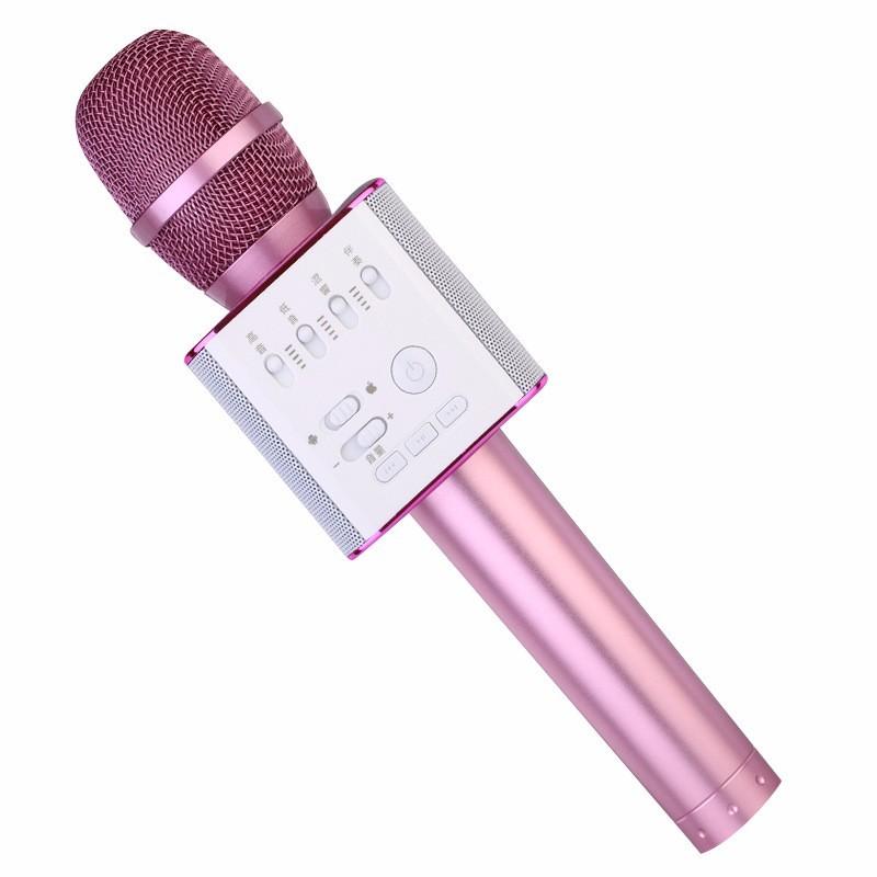 беспроводной караоке микрофон tuxun q9 - pink