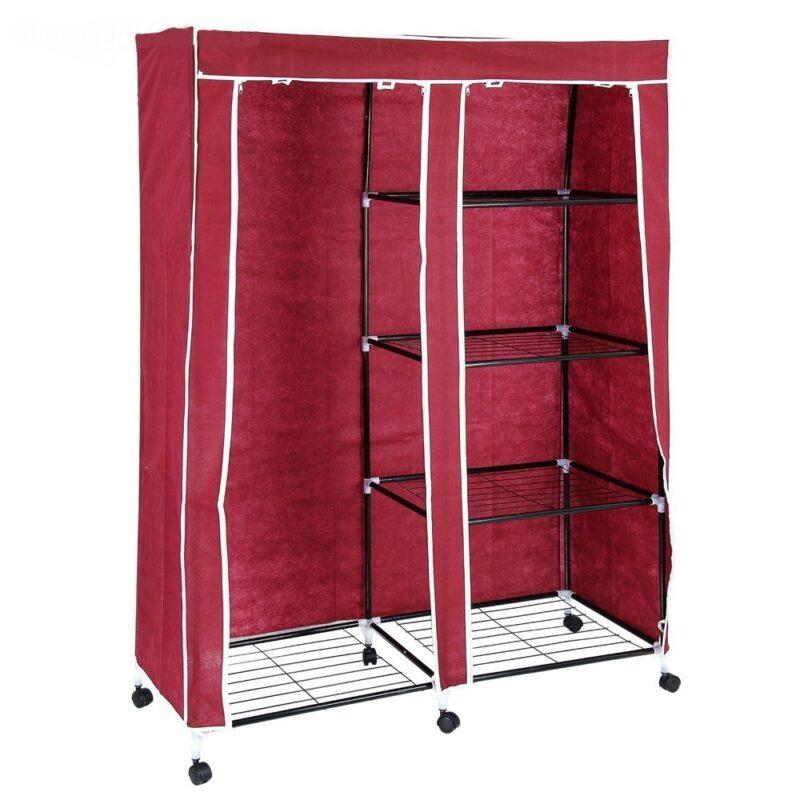 шкаф для одежды 120х50х175 см, цвет бордовый.