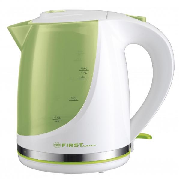 электрический чайник first fa-5427-8-gn, цвет белый.