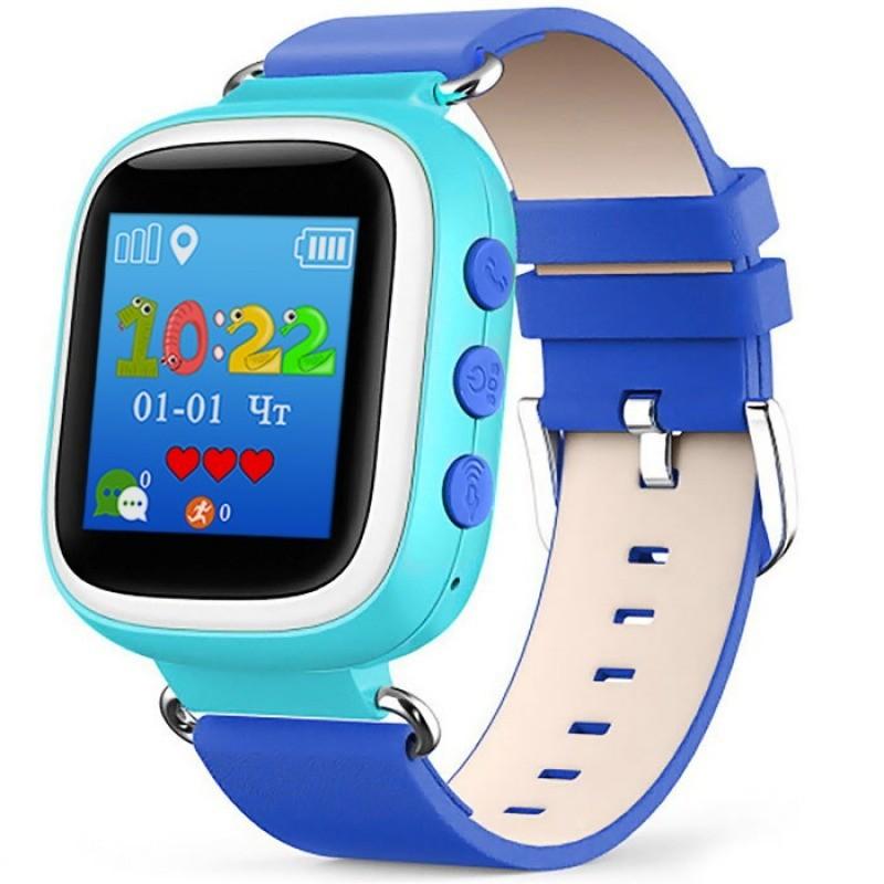 детские gps часы smart baby watch q50 голубые