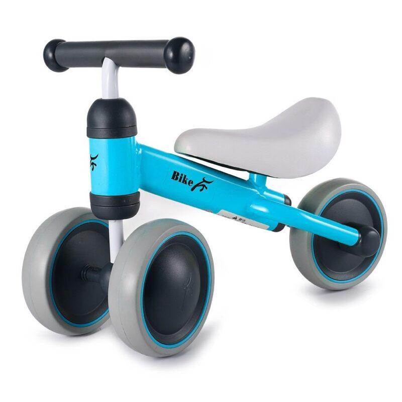 беговел для детей от 2 лет whirlee hd-150, голубой.
