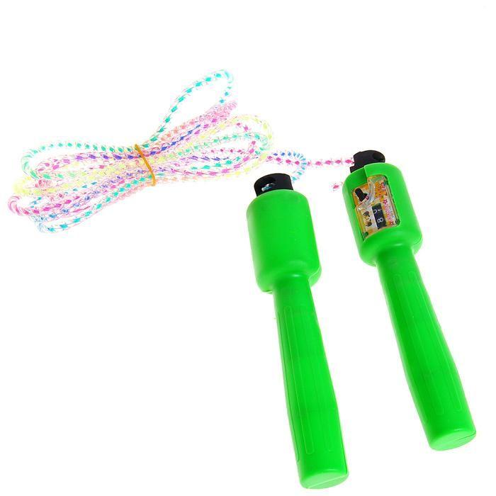 скакалка со счетчиком радуга цвет микс купить.