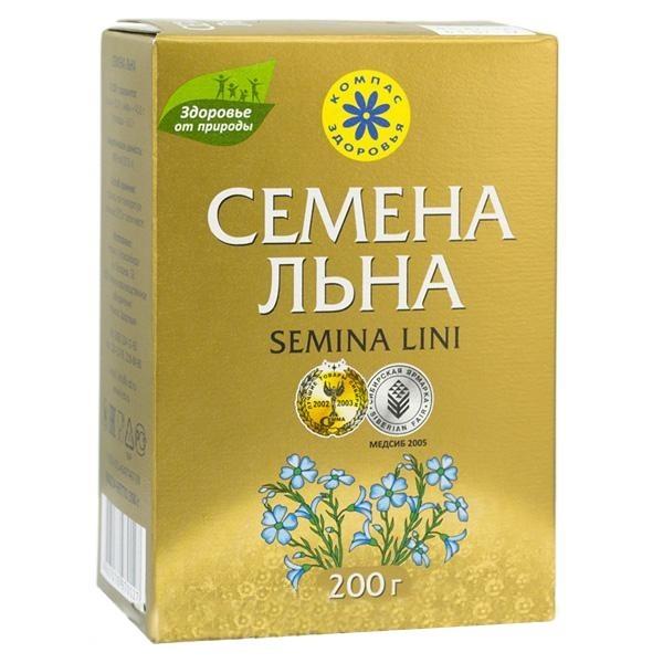 семена льна компас здоровья, 200 гр
