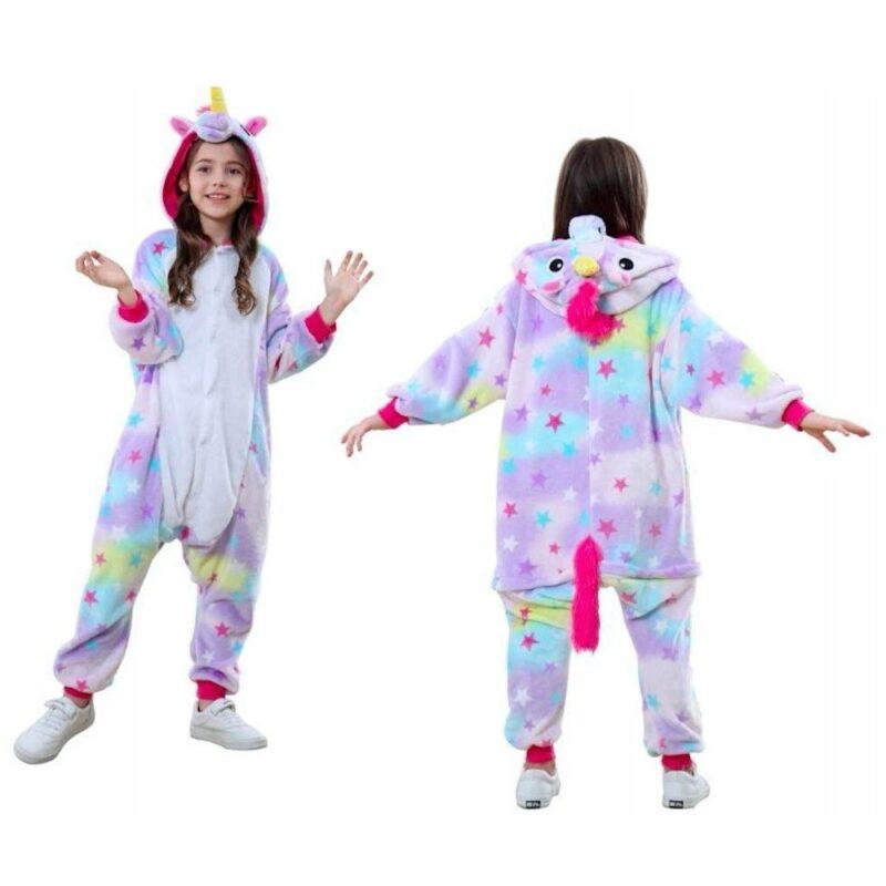 детская пижама единорог лиловый, кигуруми - купить.