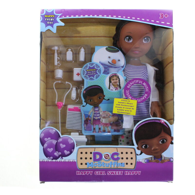 доктор плюшева кукла дотти со стетоскопом — купить.