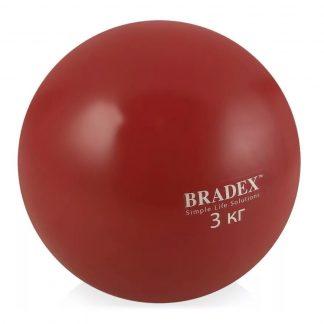 медбол grome fitness bl019-3k 3кг: купить.   li-bra ?