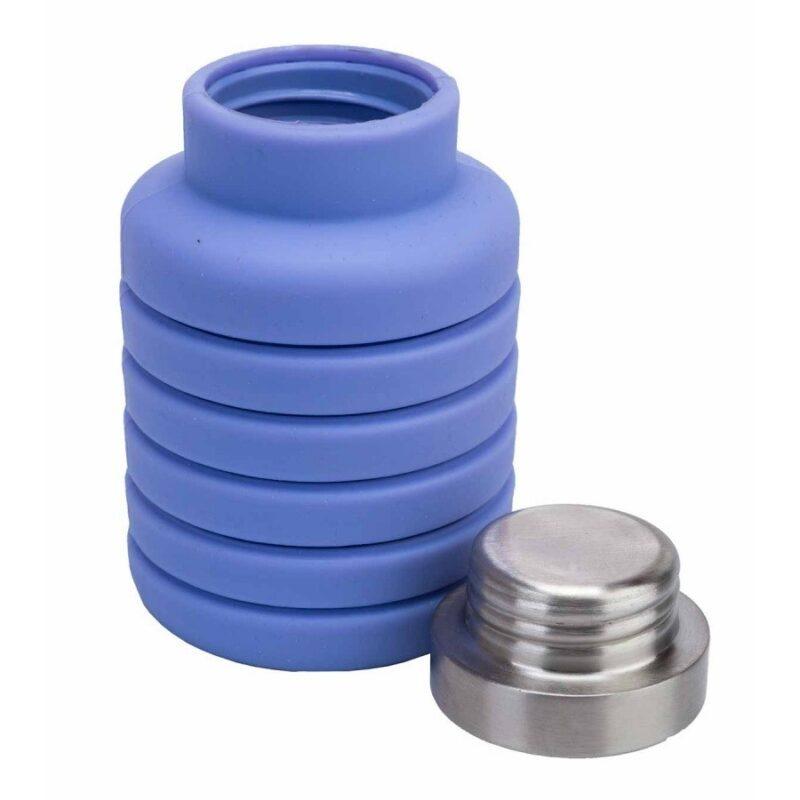 бутылка для воды силиконовая складная с крышкой.
