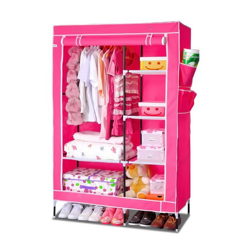 тканевый шкаф для одежды, розовый, москва
