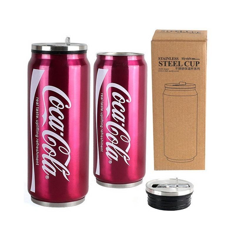 термос - coca cola, 400 мл, серый купить в москве.