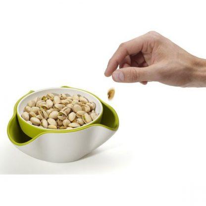 двойная тарелка для фисташек или семечек | momoyo.ru