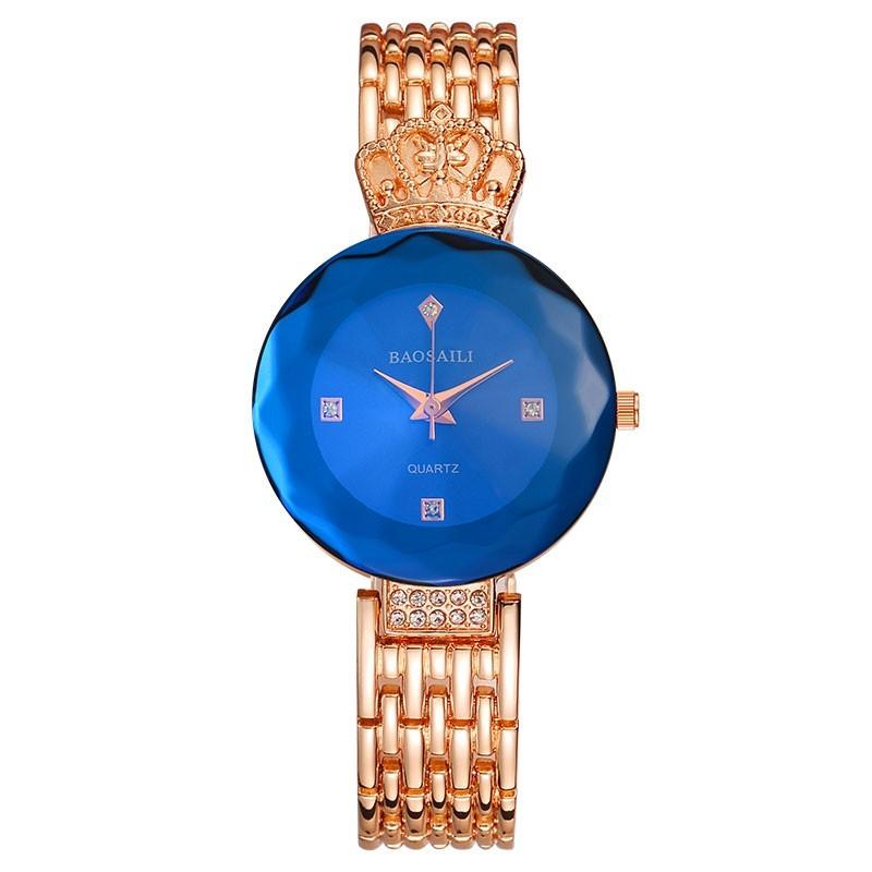 модные часы с короной baosaili, золото твой meleon
